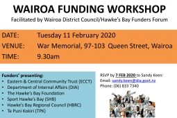Hawkes Bay Funders Forum HBFF invite