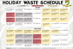 Holiday Waste Schedule 2018