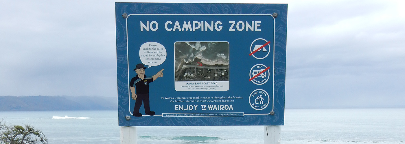 Freedom Camping Sign 1