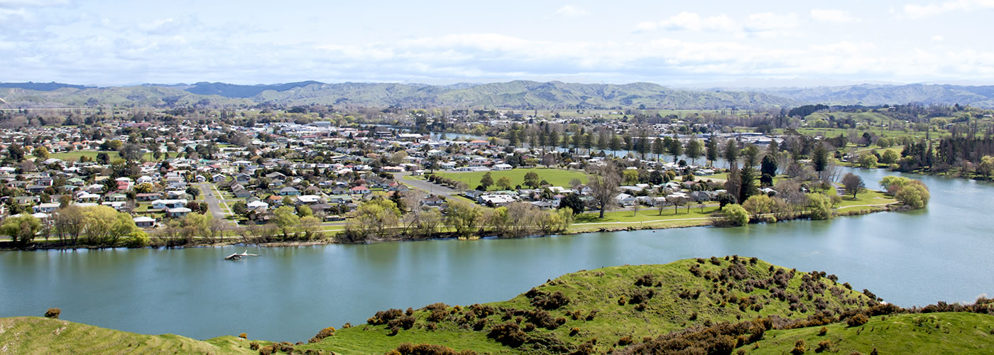 Wairoa township and river