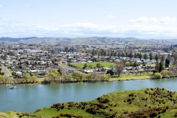 Wairoa town and river