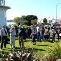 Wairoa River Walkway at the Lighthouse with walkers