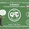Freedom Camping Signage for Mahia